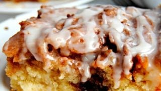 Cinnamon Roll Cake {Gluten-Free, Dairy-Free Option}