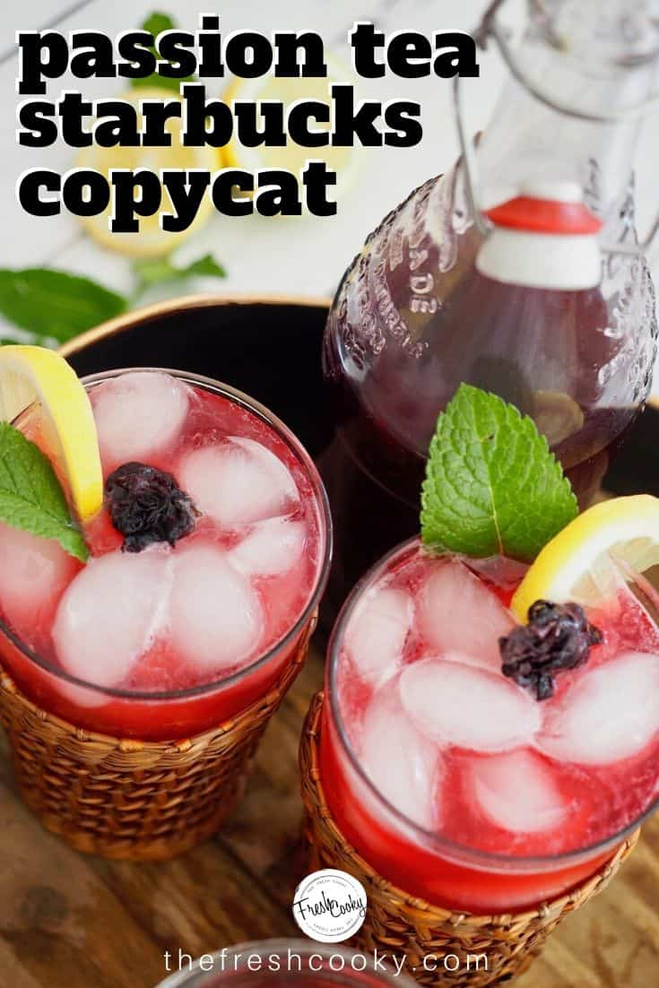 Passion Hibiscus Tea Concentrate Recipe- A refreshing drink, that's low calorie, easy and will save you $$ by making at home. Recipe on thefreshcooky.com | #passiontea #tazo #copycat #starbucks #passiontearecipes #benefits #concentrate #hibiscus #healthy #lowsugar  via @thefreshcooky