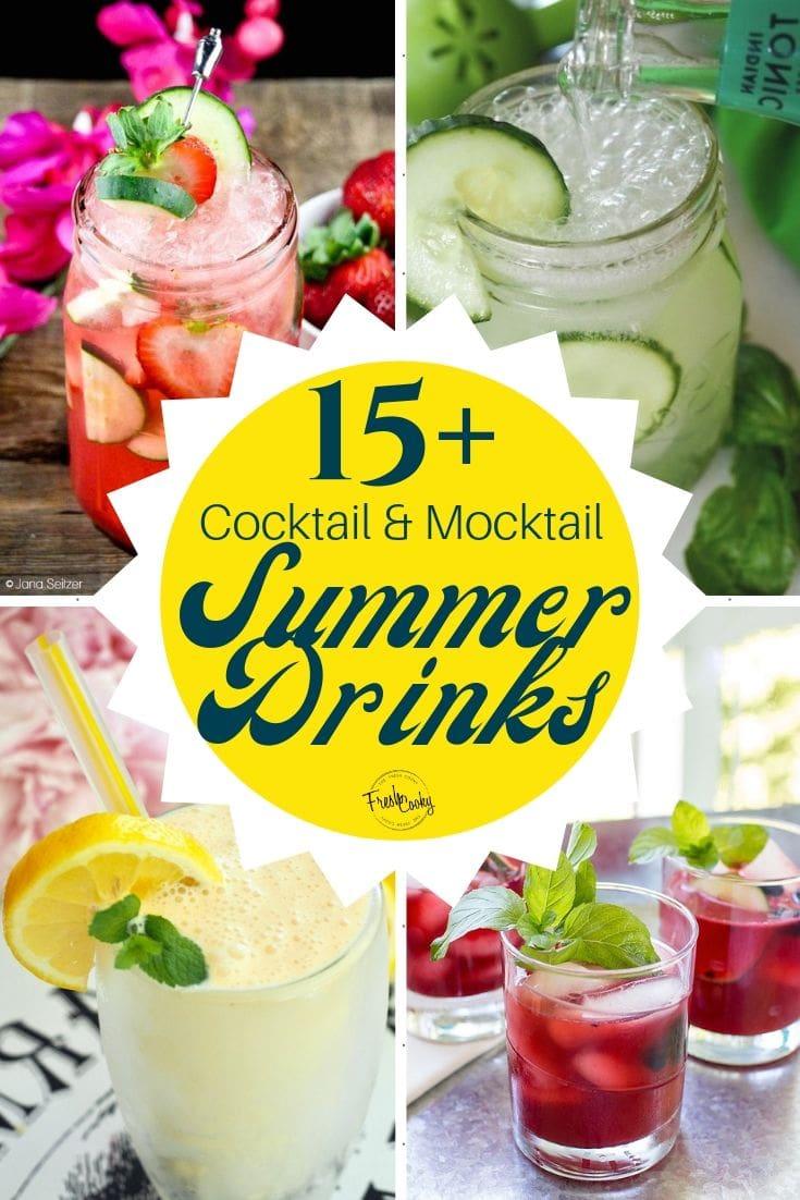 4 images for sensational summer drinks pin.