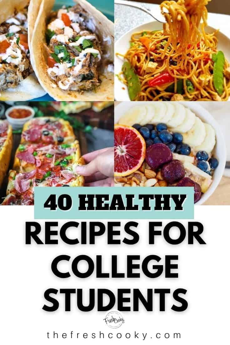 A collection of easy and healthy recipes for college students. For the family too! Budget friendly, delicious and simple. Recipe via @thefreshcooky| #recipes #collegestudent #budgetfriendly #roundup #college #easyrecipes via @thefreshcooky