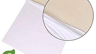 Organic 100% Natural Latex Mattress Topper - Soft Firmness Twin Extra Long Size - Organic Cotton Cover Included