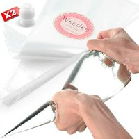 Weetiee Pastry Piping Bags -100 Pack-16-Inch Disposable Cake Decorating Bags