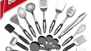 Stainless Steel Kitchen Utensil Set - 25 Cooking Utensils