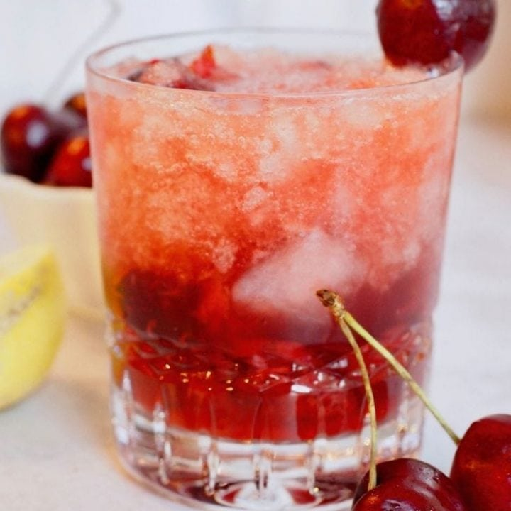 Cherry Bomb | Fresh Cherry Bourbon Cocktail