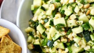 Roasted Corn and Zucchini Salad | #SummerGrilling