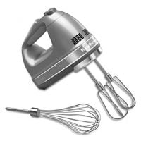 7-Speed Digital Hand Mixer with Turbo Beater II Accessories and Pro Whisk - Contour Silver