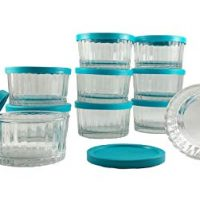 Libbey 20 Count Paneled Glass 6.8 Ounce Bowl Storage Set With Lids
