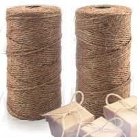 Natural Jute Twine 2 Pack - Best Crafting Twine String for Craft Projects