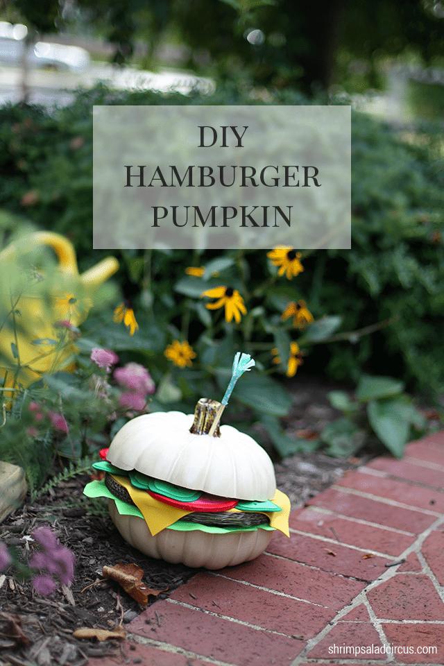 Hamburger Pumpkin Fall Decor