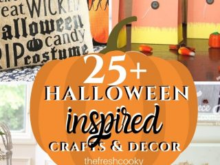 Pin with various Halloween DIY Decor ideas on thefreshcooky.com
