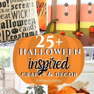 Pin with various Halloween DIY Decor ideas on thefreshcooky.com