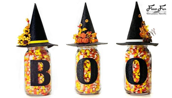 Halloween Mason Jars or Witch Mason Jars Tutorial (Free SVG files)