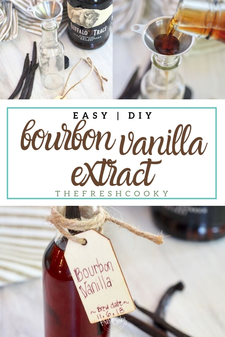 3 ingredients to make your own, DIY bourbon Vanilla Extract | thefreshcooky.com