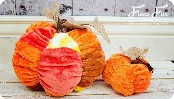 Patchwork fabric pumpkin tutorial, a cute fall decoration!