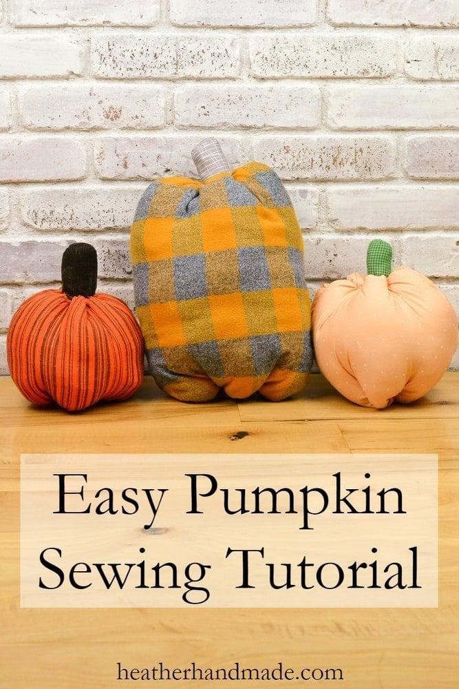 Easy Pumpkin Sewing Tutorial