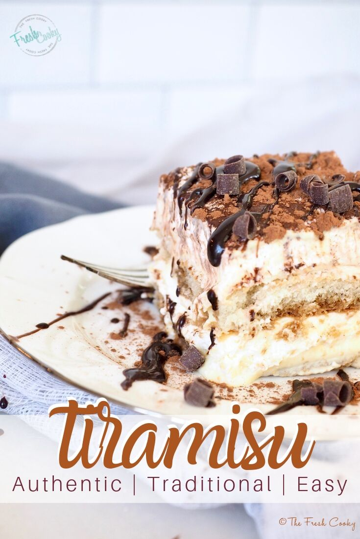 Traditional authentic Tiramisu is one of the most famous Italian desserts around the world. Learn the easy secrets of making tiramisu at home. Recipe and tips on thefreshcooky.com | #tiramisu #authentic #italian #easyrecipe #homemade #howto