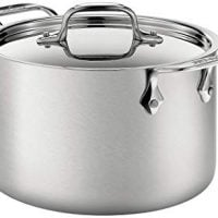 All-Clad Brushed 18/10 Stainless Steel Soup Pot with Lid Cookware, 4-Qt