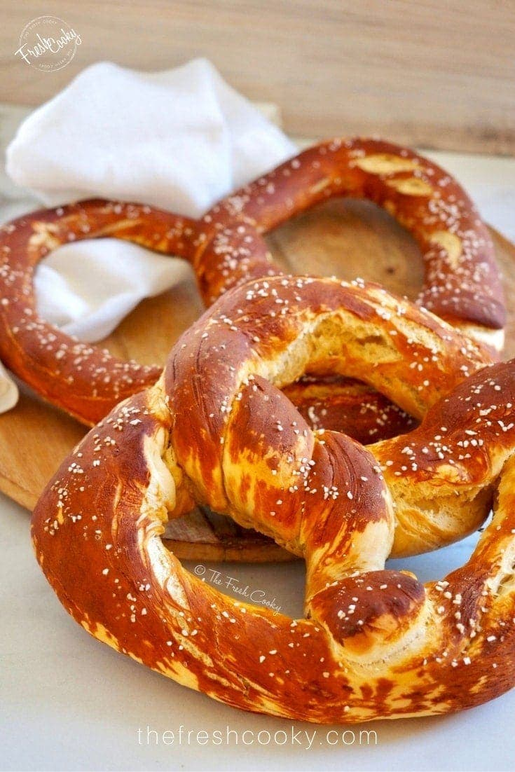 Two Giant Pretzels | via @thefreshcooky
