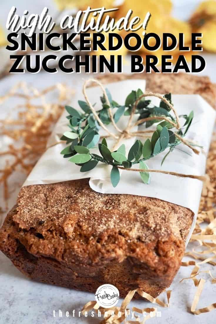 This healthier recipe of Snickerdoodle Zucchini Bread is practically perfect! Using whole grain flours, browned butter, healthy oil and reduced sugars, you will love this quickbread. With a ribbon of cinnamon sugar in the middle and topped again for a snickerdoodle like cinnamon sugar topping. Delicious and freezer friendly recipe! Via @thefreshcooky | #zucchinirecipes #zucchinibread #cinnamon #snickerdoodle #quickbread #fallbaking #highaltitude via @thefreshcooky