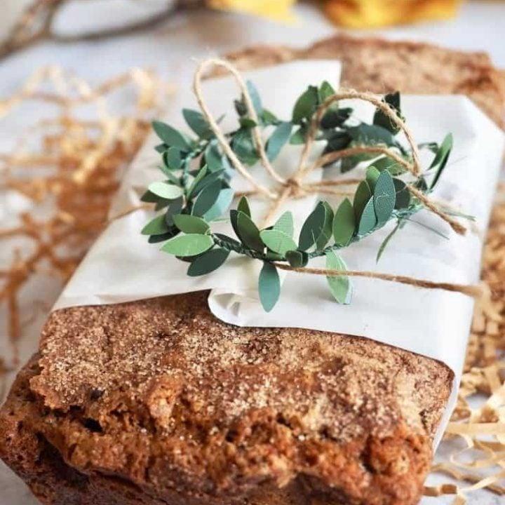 Healthier Snickerdoodle Zucchini Bread