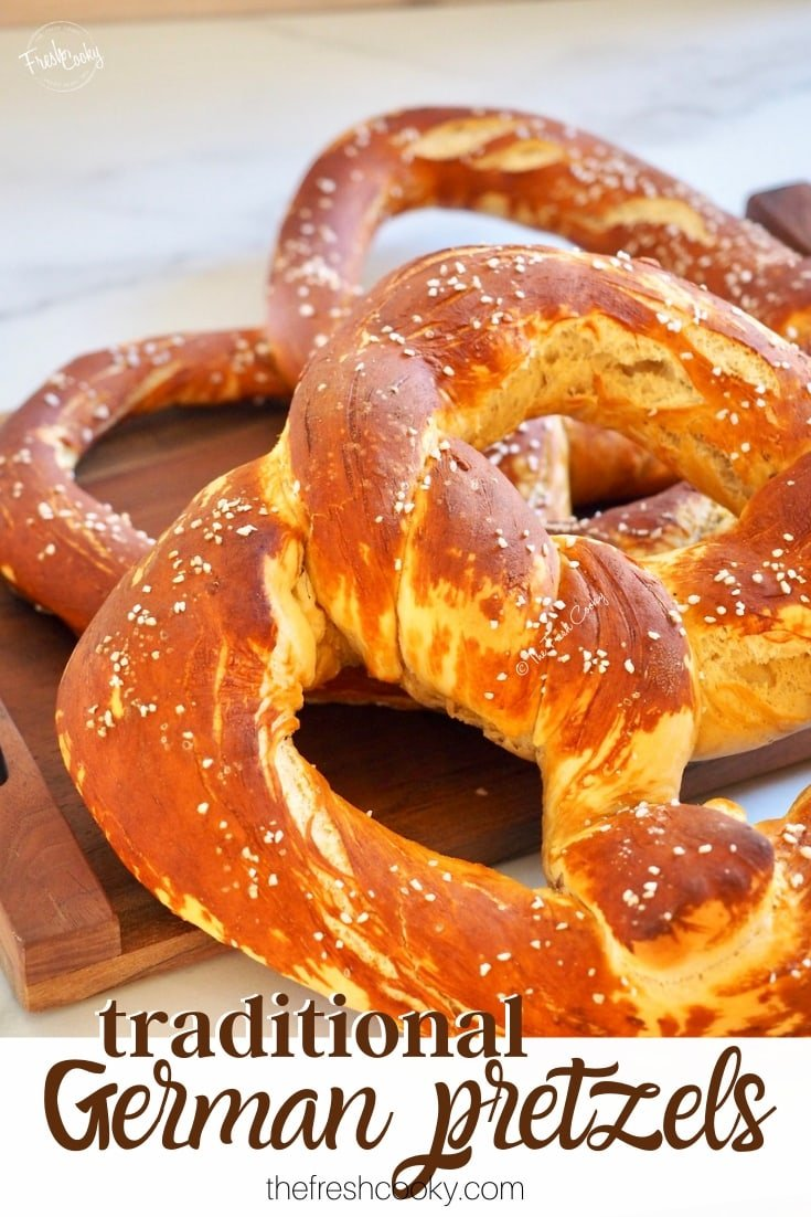 Pin of traditional German Pretzels via @thefreshcooky