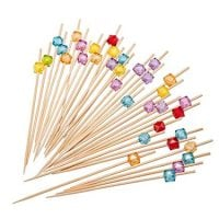 Cocktail Picks Handmade Multicolor Appetizer Bamboo Toothpicks 100ct Multicolor