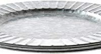 Galvanized Steel Silver Charger Plates 4 pack