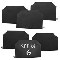 Black Mini Erasable Chalkboards Set of 6