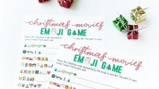 Free Printable Christmas Emoji Game