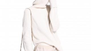 Cashmere Asymmetrical Turtleneck Sweater