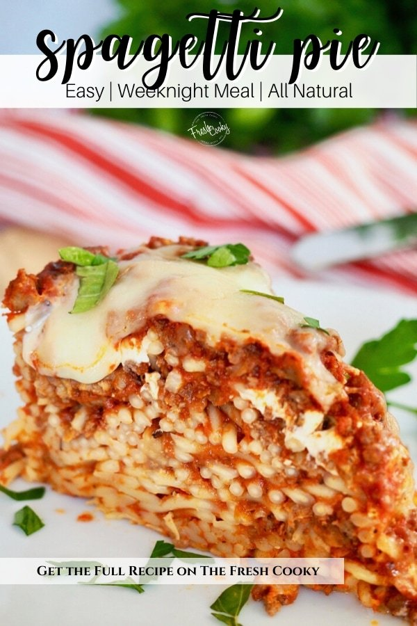 Pin for baked spaghetti pie