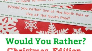 Funny Christmas Would You Rather Questions for Kids