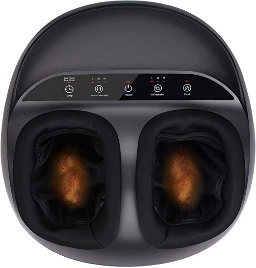 RENPHO Shiatsu Foot Massager Machine with Heat, Deep Kneading Therapy, Air Compression