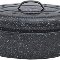 Granite Ware 6106-2 F6106-2 Covered Oval Roaster, 13 inches, Black