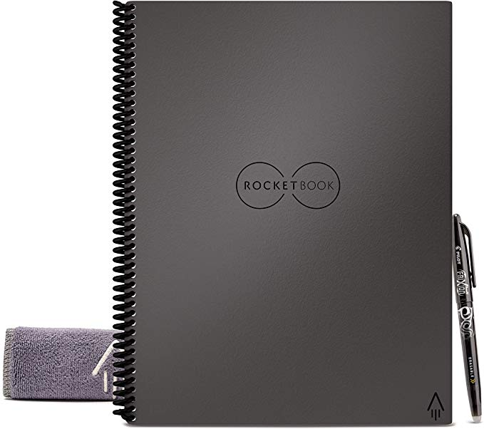 Rocketbook Smart Reusable Notebook - Dot-Grid Eco-Friendly Notebook with 1 Pilot Frixion Pen