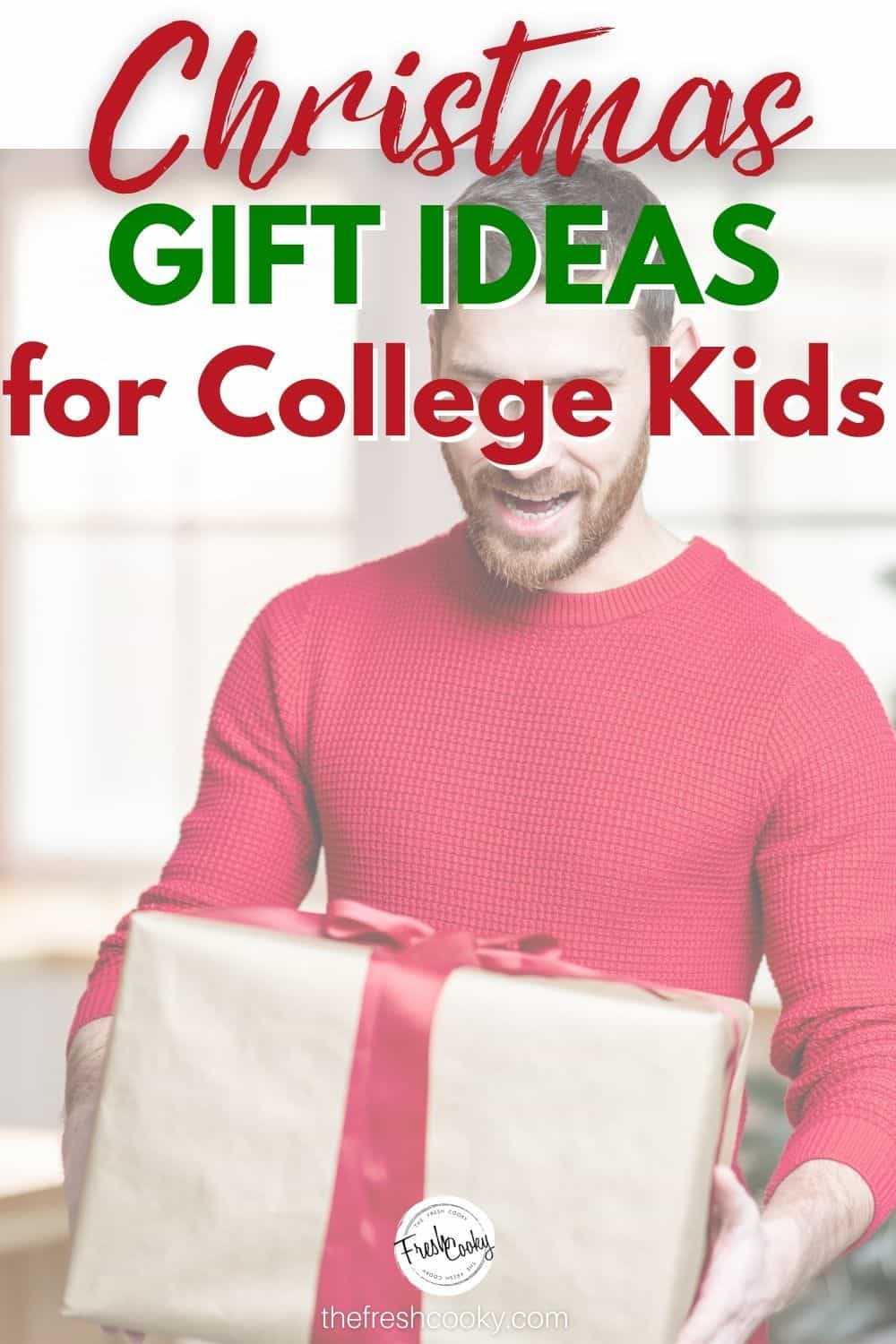 Great gifts for college boys, gifts college guys actually want! Gift ideas for teens, kids. I polled my friends with college boys to come up with this great list of college gift ideas and stocking stuffers!  Via @thefreshcooky | #giftideas #collegeguys via @thefreshcooky