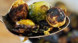 Roasted Brussels Sprouts with Honey Balsamic Glaze