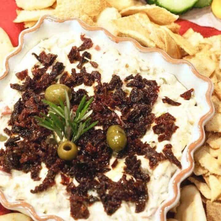 Delicious Antipasto Dip (hot or cold)