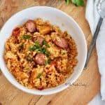 Easy Chicken & Sausage Jambalaya (Instant Pot or Stovetop)