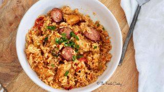 Easy Instant Pot Chicken & Sausage Jambalaya