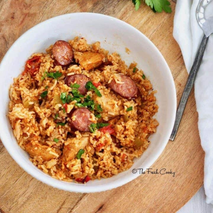 Easy Instant Pot Chicken & Sausage Jambalaya