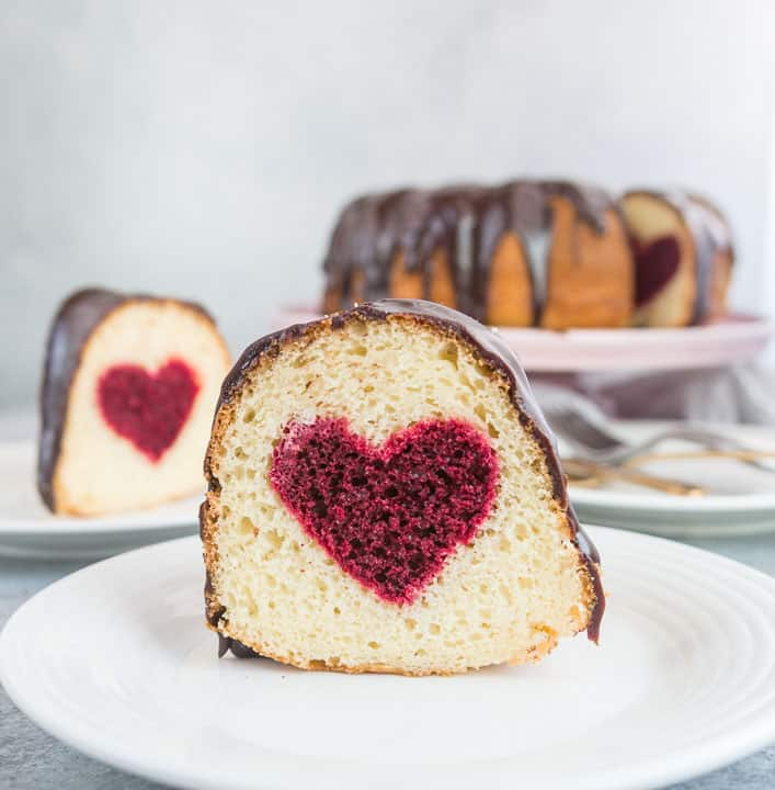 Hidden Heart Valentine's Day Cake