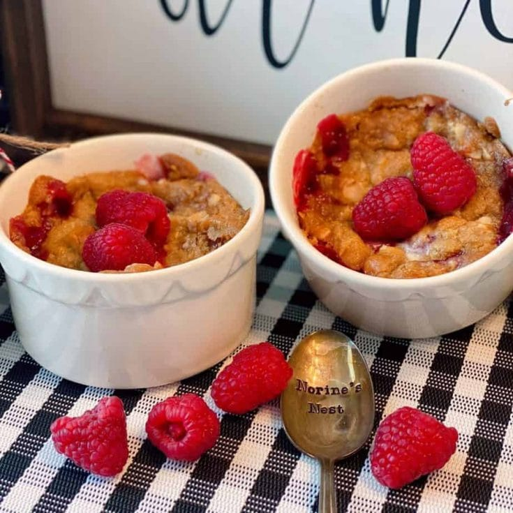 Individual Raspberry Cookie Crumbles Recipe