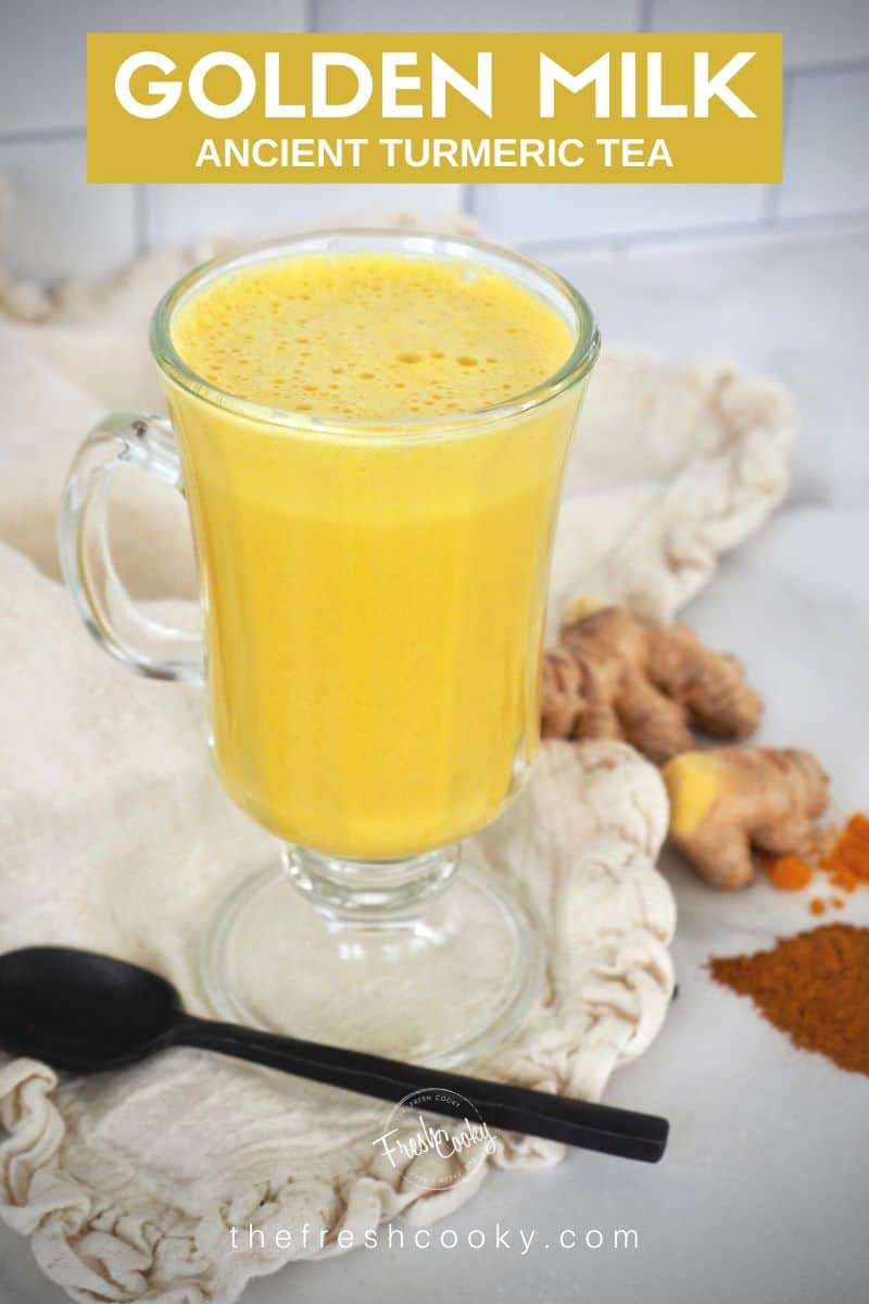 Have you ever made traditional Indian Golden Milk or Turmeric Tea? This delicious tea is a powerful, soothing, warm immune boosting, antioxidant loaded, anti-inflammatory drink that also aids in sleep! Easily made vegan, paleo customize to your taste! Recipe and Benefits via @thefreshcooky | #curcumin #benefits #goldenmilklatte #howtomake #benefitsofturmeric #easy #keto #simple #5minutes #videos #best #cold #turmericarthritis #ayurvedic #authentic #turmericlatte #forsleep #turmericforsleep via @thefreshcooky