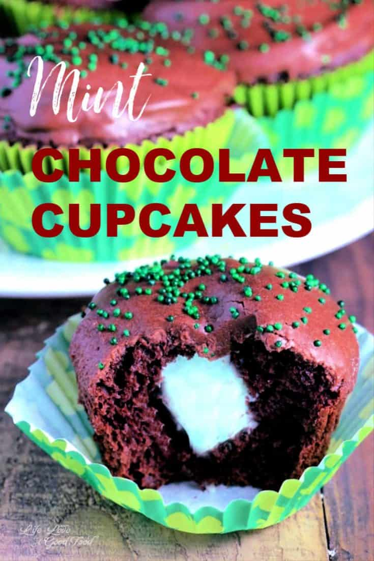 Chocolate Cupcakes with Mint Filling