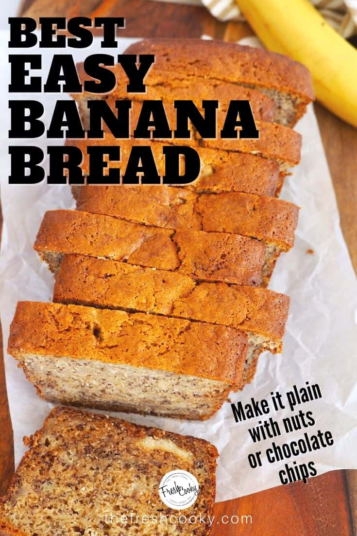 I am a banana bread nut and I have been searching for the Best Banana Bread Recipe! This one is quite possibly the best EVER! So EASY, moist and amazingly delicious, with all the awesome banana bread feels! Freezes great too! Recipe on #thefreshcooky #flourbakery #famous