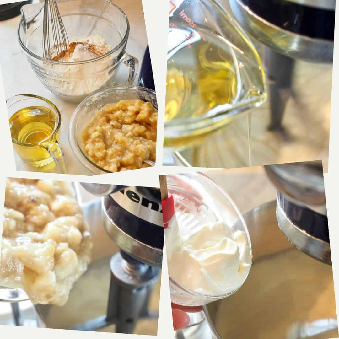 banana bread recipe process shots | thefreshcooky.com