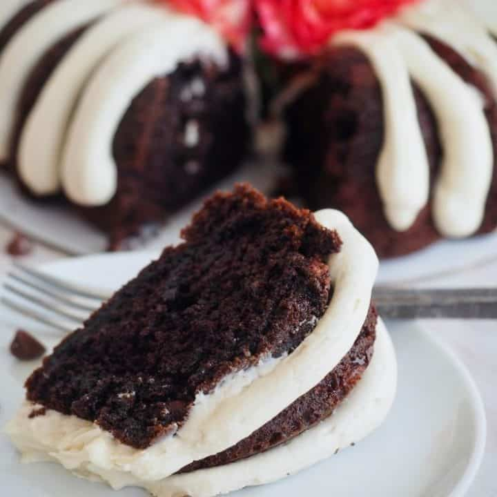 Chocolate Chocolate Chip Bundt Cake - Nothing Bundt Cakes Copycat Recipe