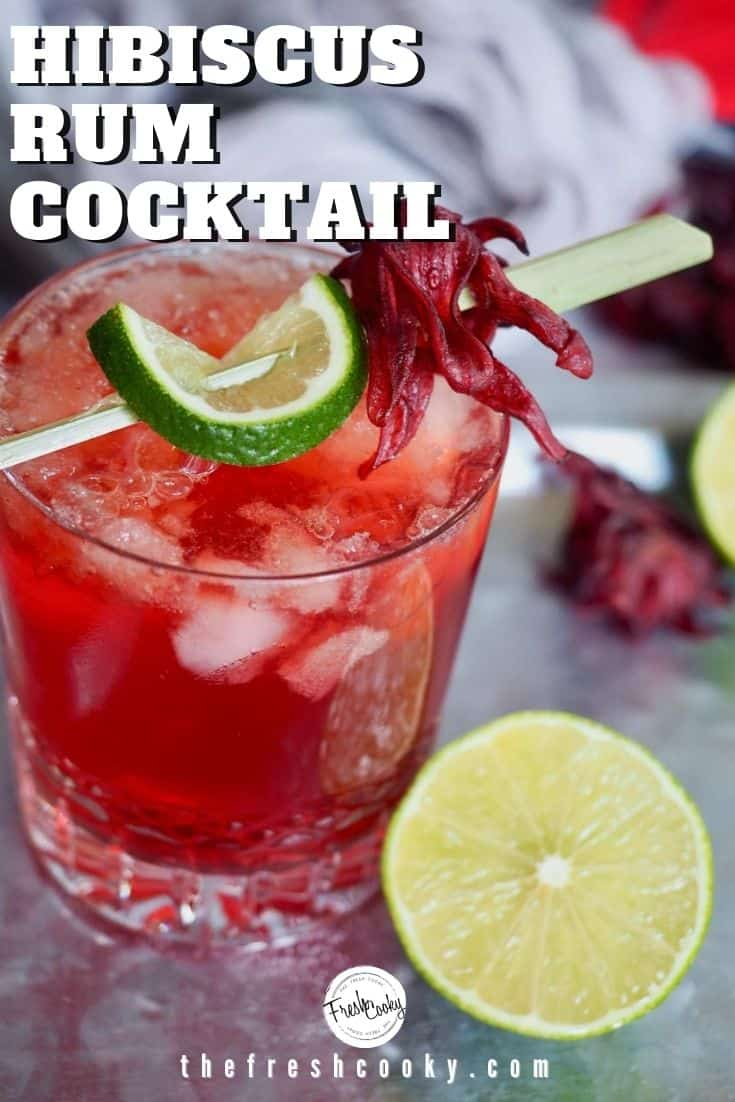 Pinterest image of closeup shot of Dark and Stormy