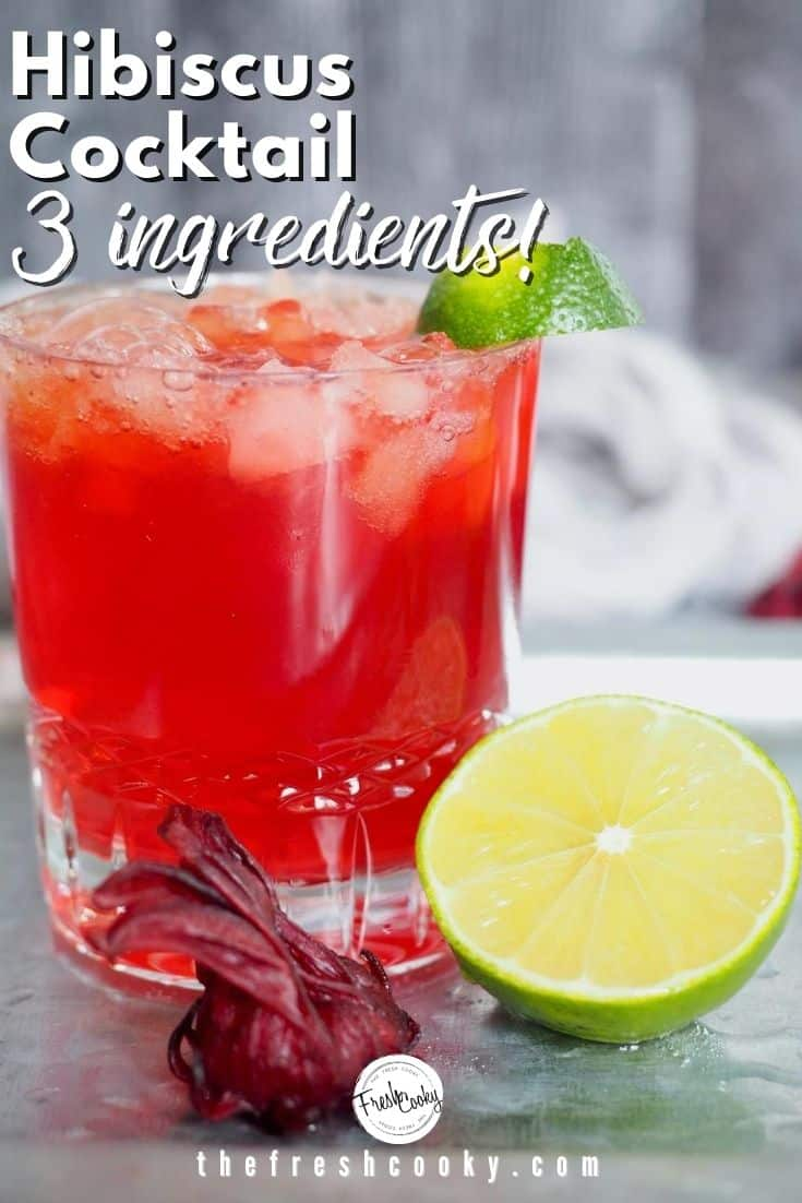 Hibiscus Spicy Ginger Beer, smooth dark rum, and fresh lime juice, a delicious Dark & Stormy cocktail or mocktail. #cocktail #mocktail #hibiscus #darkandstormy via @thefreshcooky